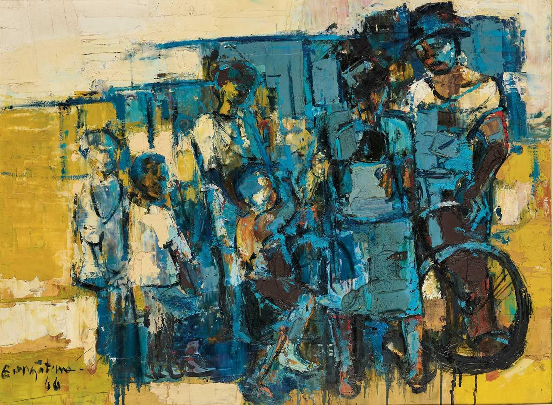 Lot 17 - Ephraim Ngatane (South Africa 1938-1971)